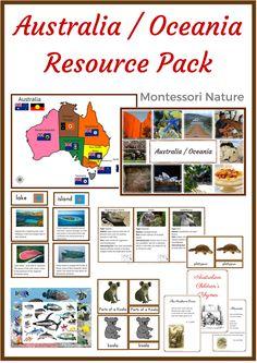 Australia / Oceania Resource Pack - Montessori Nature