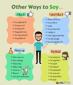 Other Ways to Say... - ESL Buzz