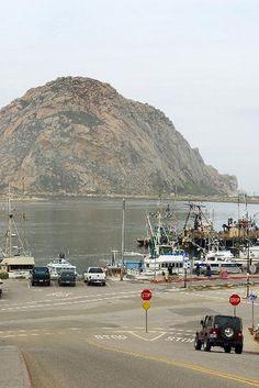 Morro Rock from the Embarcadero in Morro Bay, California