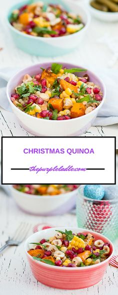 ... Quinoa salad with fresh corn, pumpkin, pomegranate seeds, spinach and