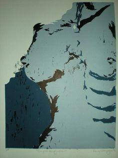 «Complet-exsification», impression sur carton Bristol (gravure sur bois par addition), tirage de 5, 21 po x 17 po, 2008