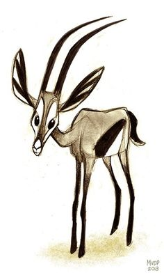 Gazelle Sketch by sketchinthoughts.deviantart.com on @deviantART