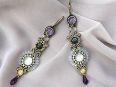A personal favorite from my Etsy shop https://www.etsy.com/listing/506783589/long-earrings-with-gemstones-swarovski