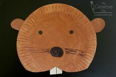 Cindy deRosier: My Creative Life: Paper Plate Beaver