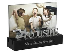 Malden International Designs Cousins Desktop Expressions with Silver Word Attachment Picture Frame, Black >>> Details can be found by clicking on the image. (This is an affiliate link and I receive a commission for the sales) Family Picture Frames, Friends Picture Frame, Picture Frame Decor, Collage Picture Frames, Picture On Wood, Picture Design, Cousin Pictures, Usa Pictures, Family Pictures