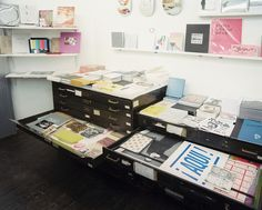 Contemporary Organization - Flat file cabinets filled with artworks