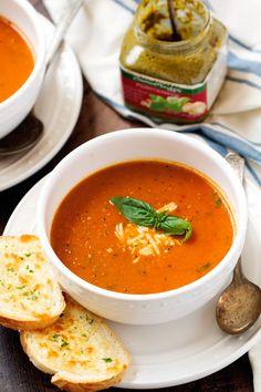 Secret Ingredient Tomato Basil Soup - One super important ingredient makes this soup so OUTSTANDING! #tomatobasilsoup #tomatosoup #tomatobasilbisque   Littlespicejar.com