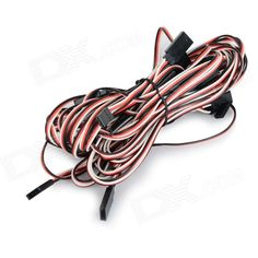 30-Core RC Servo Extension Cords for JR / Futaba - Black + Red (100cm / 10 PCS). Color Black + Red + Multi-Colored Material PVC Quantity 10 Piece Compatible Model Universal Packing List 10 x Extension cords. Tags: #Hobbies #Toys #R/C #Toys #Other #Accessories