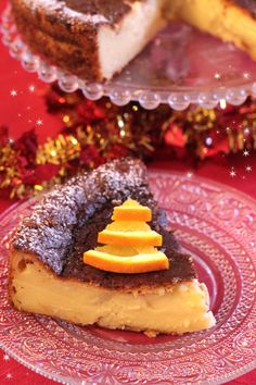 GATEAU MAGIQUE DE NOEL AUX ORANGES CONFITES Orange Confit, Pancakes, Breakfast, Vanilla, Sweet Recipes, Cooking Recipes, Travel Cake, Exotic Fruit, Recipies