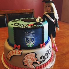 The journey continues. Picture: Kaity Fos. Northern Arizona University, Going Away Parties, Graduation Celebration, High School, Birthday Cake, Journey, Party, Desserts, Tailgate Desserts
