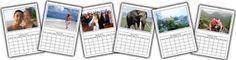 photo calendar template  Love these, templates for each month and you can add a picture! GREAT gift idea!