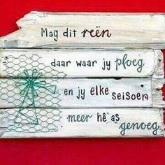 Genoeg. Sign Quotes, Qoutes, Afrikaanse Quotes, Card Sentiments, Diy Signs, Diy Arts And Crafts, Birthday Wishes, Wise Words, Projects To Try