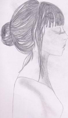 Drawing girl, side