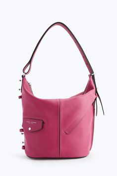 Gorgeous Marc Jacobs Sling Leather Hibiscus Cow Dual Zip Top Closures Hobo