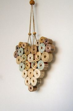 Recycled Paper Heart 4x4 Neutral/Natural Shades by BlueTangDesigns, $12.00