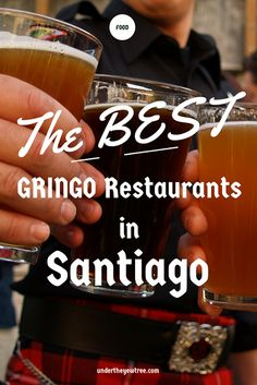 Craving some good ol' fashioned gringo food in santiago chile? Here is a list of bars and restaurants that have some of the best burgers, fries and other gringo favorites in the city.