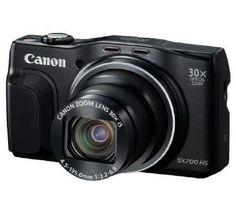 Die Canon PowerShot SX700 HS ist eine Kompaktkamera die Sie mit auf Reisen nehmen können. Dieses leichte Gerät bietet einen ultraleistungsstarken 30fachen optischen Zoom und einen CMOS-Sensor mit 16 Megapixeln mit einem 25 mm-Weitwinkelobjektiv.