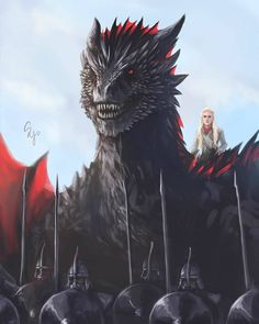 Game of Thrones Drogon Game Of Thrones, Arte Game Of Thrones, Game Of Thrones Artwork, Game Of Thrones Poster, Game Of Thrones Dragons, Got Dragons, Game Of Thrones Fans, Mother Of Dragons, Daenerys Targaryen Art
