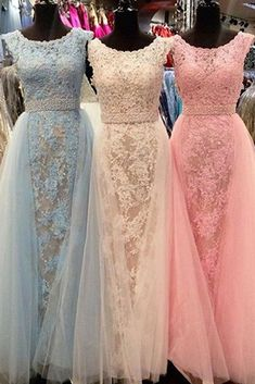 Gorgeous A-line Long 2017 Prom Dress,Off the Shoulder Evening Dress,349 - Thumbnail 1