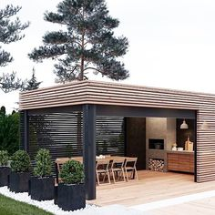 "88 Likes, 1 Comments - S T U D I O - B L A C K (@studioblacknz) on Instagram: ""Bring on summer living with friends and fam Love this outdoor space! • Image Via Pinterest…"""