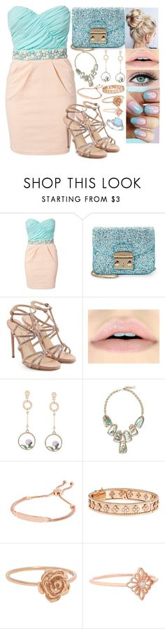 """#96"" by moon-crystal-wolff ❤ liked on Polyvore featuring Elise Ryan, Furla, Paul Andrew, Kendra Scott, Monica Vinader, Van Cleef & Arpels and Stone Paris"