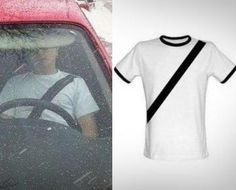 Fake Seat-belt T-Shirt - LMAO!!!!