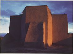 Mission, Ranchos de Taos, New Mexico  Ansel Easton Adams  (American, San Francisco, California 1902–1984 Carmel, California)