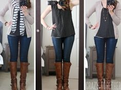 black Blaine Textured Chevron Print Blouse from Stitch Fix- especially cute with the long necklace and cardigan!