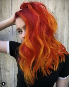 I can't wait for all HairBesties to play with the new Phoenix Fire and Lightning Bolt shades coming soon in our Super Power Direct Dye… Guy Tang, Flame Hair, Sunset Hair, Brown Ombre Hair, Funky Hairstyles, Formal Hairstyles, Wedding Hairstyles, Modern Haircuts, Hair Dye Colors