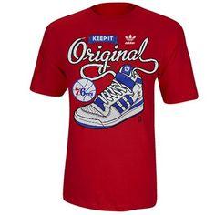 adidas Philadelphia 76ers Maintain It T-Shirt - Red
