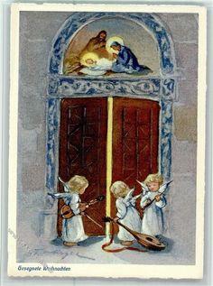 Nr. 321 Verlag Henke - Gesegnete Weihnachten, Engel mit