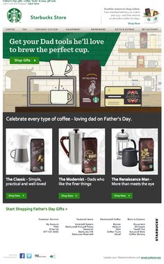 starbucks email 2014 father's day