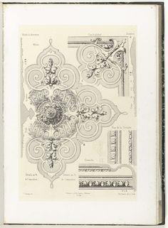 Details van plafond, Charles Claesen, P. Avanzano et Ch. Claesen, c. 1866 - c. 1900