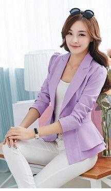Dressy Blazer/Jacket Closure Type: Single Button Material: Cotton,Polyester Sleeve Length: Full S-2-4 M-6 L-8 XL-10 XXL-12