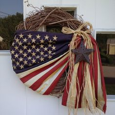 Primitive 4th of July Wreath