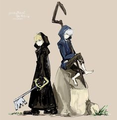 Jack Frost and Roxas Rise of the Guardians x Kingdom Hearts Disney And Dreamworks, Disney Pixar, Kaito, Final Fantasy, Kingdom Hearts Worlds, Kingdom Hearts Crossover, Kindom Hearts, Anime Watch, Rise Of The Guardians