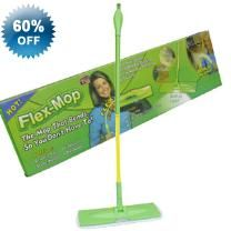 Swivelling Flex Mop & Flex Attachment - Micro–Fibre Cloth - Swivels - Gets Hard To Reach Areas