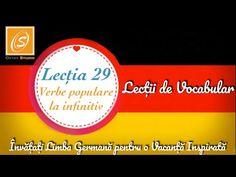 Lecția 29 - Verbe Populare la Infinitiv - Lecții de Vocabular în Limba Germană - YouTube Chart, Youtube, Youtubers, Youtube Movies