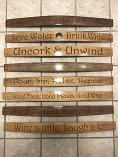 A personal favorite from my Etsy shop https://www.etsy.com/listing/502694438/custom-wine-barrel-stave-quotes