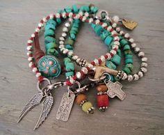 Sideways cross bracelet 'Tiny Sacrifice' artisan by slashKnots, $115.00