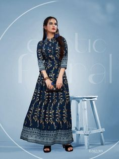 Gowns Online, Blue Fabric, Lace Skirt, Print Design, Saree, Stylish, Extra Fabric, Kurtis, Color