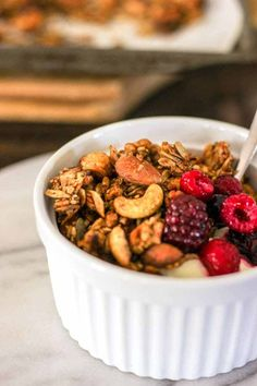 I started making my own muesli years ago when I stopped eating gluten. At  first I followed a recipe, then slowly started changing it each time I made  it.