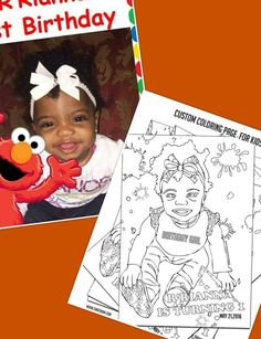 kids Custom Coloring Page by ShacreamCreative on Etsy