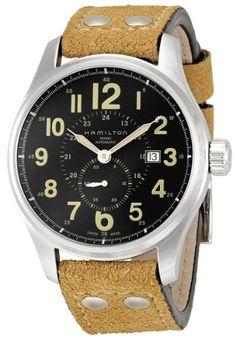 f13a0bb5035 Hamilton Men s H70655733 Khaki Officer GMT Watch  gt  gt  gt  You can get