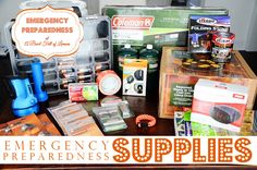 Emergency Preparedness Supplies - How to create an emergency preparedness station in your home. ABFOL