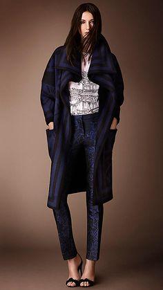 Mantel aus gestricktem Deckenstoff | Burberry