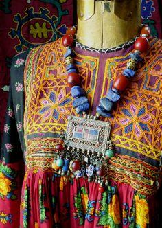 Kuchi Wanderer lapis lazuli & vintage pendant by MorningDove, $195.00