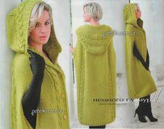 Экстравагантное пальто-пончо спицами. Описание, схемы, выкройка Veste Femme  Tricot, Tricot 51519340848