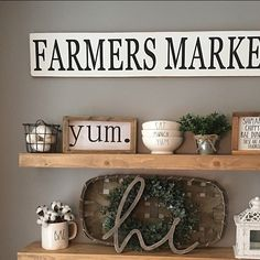 Y'all I can't even!! How amazing does our #farmersmarket and #farmhousefavorites signs look with all of these farmhouse goodies!?!! The tobacco basket, cotton stems, and those Rae Dunn dishes are making me swoon. I love seeing how y'all use our signs..so make sure you share for a chance to be featured : @chelsea.danielle3 ------------------------------ #farmhousestylefriday #fridayfarmhousefavorites #blissfullyhome #farmhouseforeverfridays #homestyleflatlay #myneutralnook #fancyfarmh...