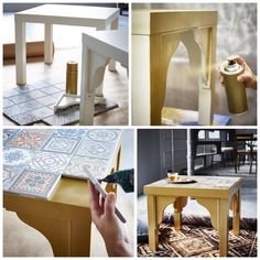 DIY Ikea Lack coffee table hack.